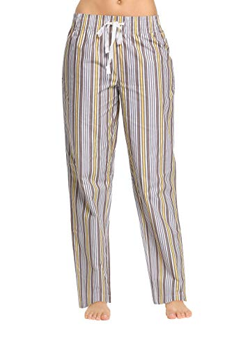 CYZ Women's 100% Cotton Woven Sleep Pajama Pants-LemongrassStripe-XL ()