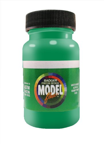 - Badger Air-Brush Co. 2-Ounce Modelflex Railroad Airbrush Ready Water Based Acrylic Paint, John Deere Green