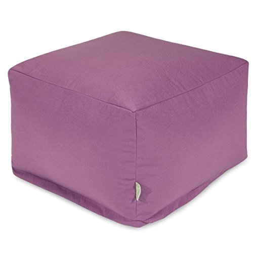 Majestic Home Goods Ottoman, Large, Lilac by Majestic Home Goods