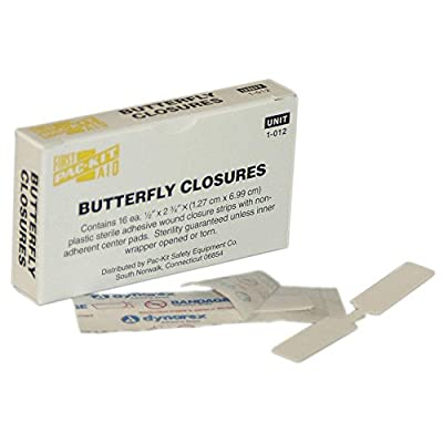 Butterfly Closure, White, Plastic, PK16