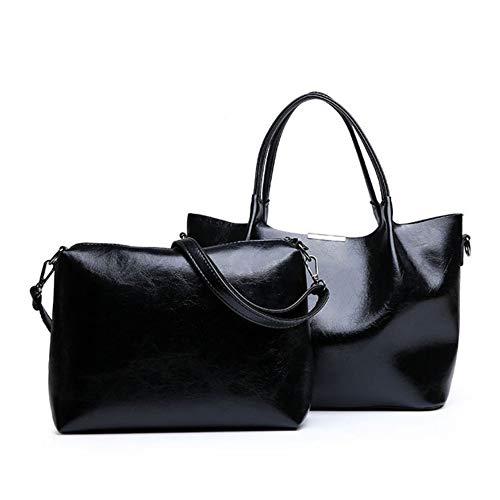 Alta Piezas Capacidad Nueva Casual Gran Mano Sólido Mzdpp Bolso De Calidad Dos Mujer Black Color Para Moda Grande Compuesto fOqaRW4