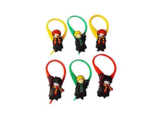 [AVIRGO 6 pcs Colorful Soft Zipper Pull Charms for Jacket Backpack Bag Pendant Set # 354 - 4] (Dobby Harry Potter Costumes)