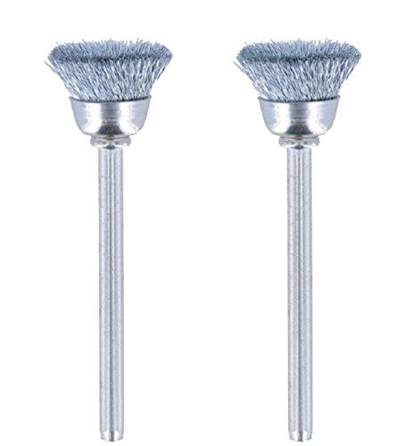 Dremel 442-02 Carbon Steel Brushes (2 Pack), 1/2