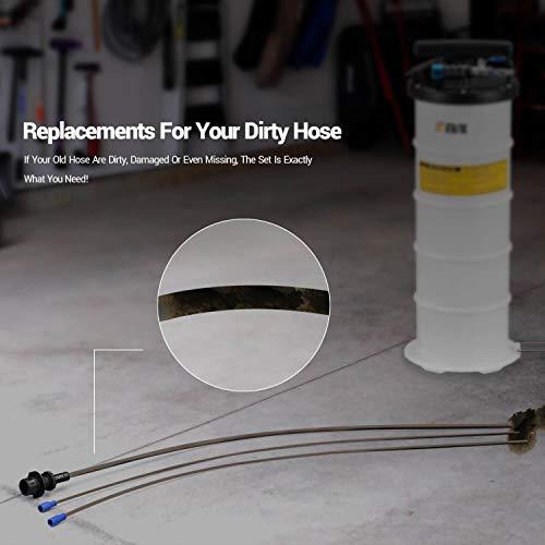 EWK 3 Hoses + Sealing Cap + Storage Tube Set for Oil Changer Vacuum Fluid Extractor Pump 6.5L 15L by EWK (Image #3)