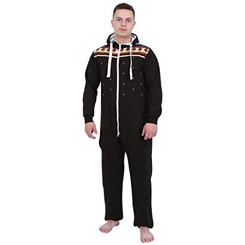 Juicy Trendz Mens Printed Onesie Hoodie Jumpsuit Playsuit All In One Piece