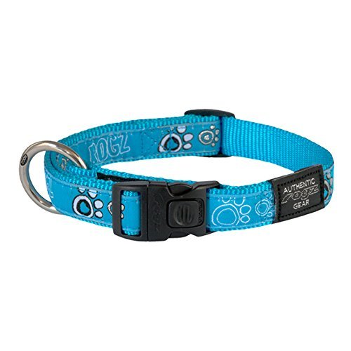 "Rogz Premium Pattern Ribbon Designer Dog Collar, 3/4""/Large,"