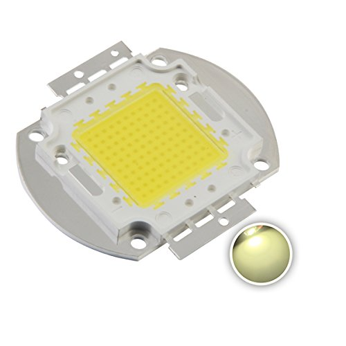 Chanzon High Power Led Chip 100W Natural White (4000K-4500K/3000mA/DC 30V-34V/100 Watt) Super Bright Intensity SMD COB Light Emitter Components Diode 100 W Bulb Lamp Beads DIY Lighting