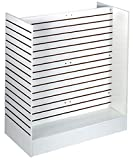 Slatwall Knockdown Slatwall Gondola Unit Store Display w/Metal Inserts White New