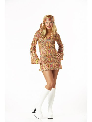 Adult Disco Dolly - California Costumes Women's Adult-Disco Dolly, Multi, M (8-10) Costume