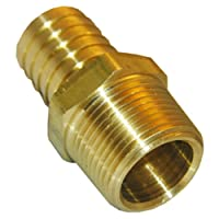 LASCO 17-7747 1/2-Inch Male Pipe Thread by 1/4-Inch Hose Barb Brass Adapter