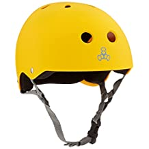Triple Eight 1373 Helmet with Sweatsaver Liner, Medium, Yellow Rubber