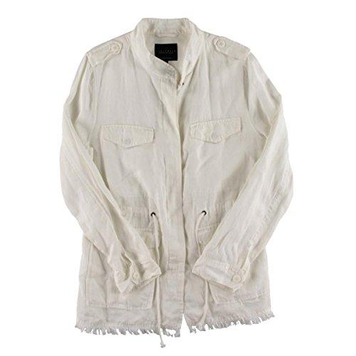 Wool Ivory Jacket Blend (Sanctuary Womens Tencel Blend Button Closure Basic Jacket Ivory S)
