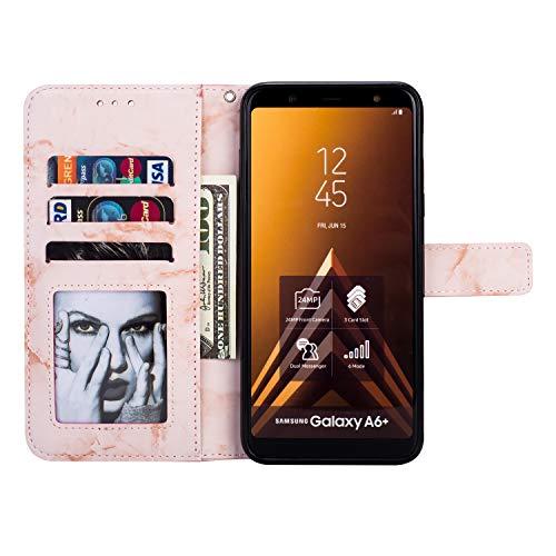 Galaxy Soft Avec Lune Moiky Coque Pour Portefeuille Cuir Flex Pu Motif Magnétique Joli 2018 Supporter corde Clapet Marbre Mode Étui Or Chaud Tpu Rose Étoiles 2018 A6 rSIqSnwBZ