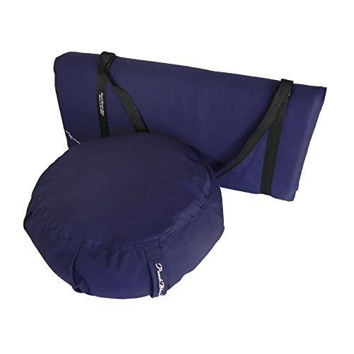 Yoga 3 pc. Yoga Meditation Studio Set -w/Strap A2 Indigo NEW by Syl Billionair
