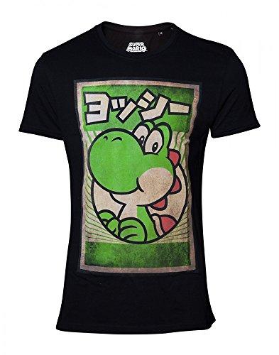 Nintendo - Yoshi Classic - T-Shirt in Schwarz Aus 100% Baumwolle