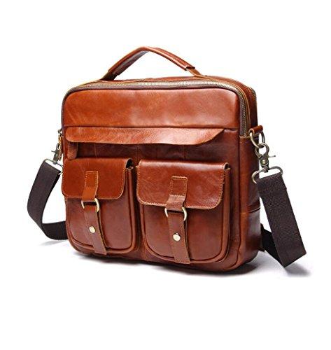 Pequeña Bandolera Bolso de Hombro 6 Pecho Sucastle 32x9x26cm Mochila Bolsos Bolsa Piel y 5 Resistentes de Cuero Bolsos Hombre Autentico EC6xnqp