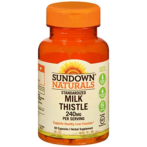 - Sundown Naturals Milk Thistle Xtra 240 mg Herbal Supplement Capsules 60 CP - Buy Packs and SAVE (Pack of 4)