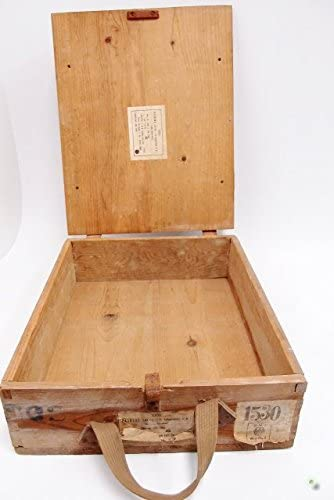 Caja de municiones de madera caja de carga baúl de caja de madera en forma de caja de herramientas: Amazon.es: Hogar