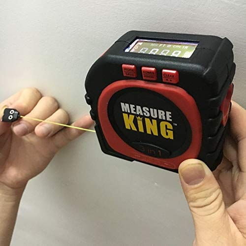 1 piece Precise Measure King 3-in-1 Digital Measure Tape Sonic Measure String Mode Roller Universal Measuring Tool Dropship