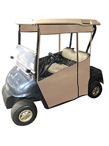 Track-Style Golf Cart Enclosure - Vinyl (Tan Vinyl, EZGO RXV)