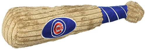 MLB CHICAGO CUBS Baseball Bat Toy for DOGS & CATS. Soft Corduroy Plush with Inner ()