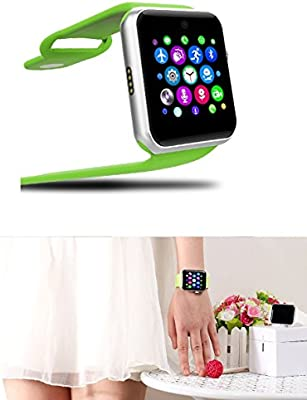 LEMFO LF07 Bluetooth Smart Watch SmartWatch for Apple iPhone iOS Android Smartphones Looks Like Apple Watch Reloj Inteligente (Green Silver)