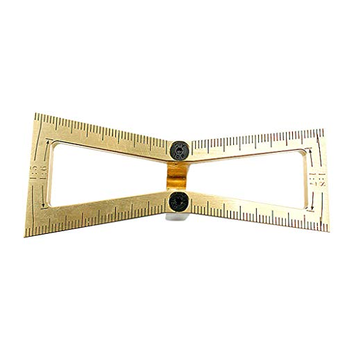charts_DRESS Dovetail Marker, Hand Cut Wood Joints Gauge Dovetail Guide Tool, Dovetail Template Size 1:5-1:6 and 1:7-1:8 for Woodworking (Gold) ()