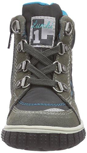 Lurchi Joshi-Tex Jungen Lauflernschuhe Mehrfarbig (grey turquoise 25)