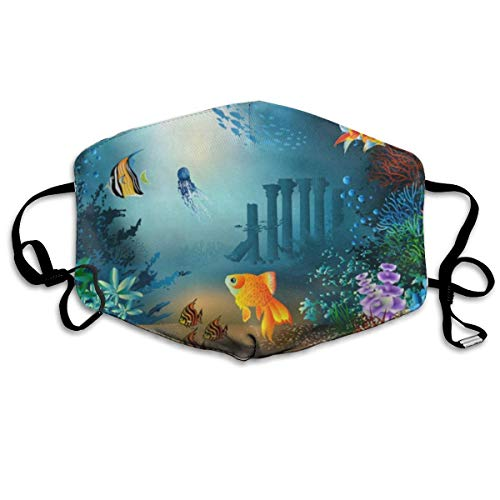 ZHOUSUN Dustproof Washable Reusable Underwater Coral Fishes Mouth Cover Mask Respirator Germ Protective Safety Warm Windproof Mask
