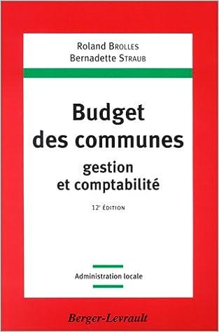 Livre gratuits Budget des communes, gestion et comptabilité epub, pdf