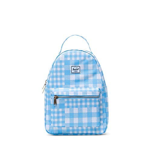 Herschel Nova Small Backpack, Gingham Alaskan Blue, One Size