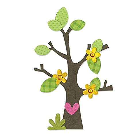 Sizzix Bigz Die Tree with Flower, Heart and Leaves by Doodlebug Design