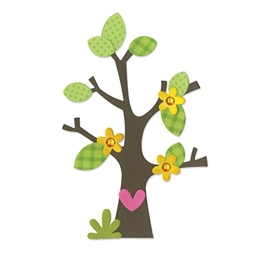 Sizzix Bigz Die Tree with Flower, Heart and Leaves by Doodlebug Design (Doodlebug Albums Scrapbook Supplies)
