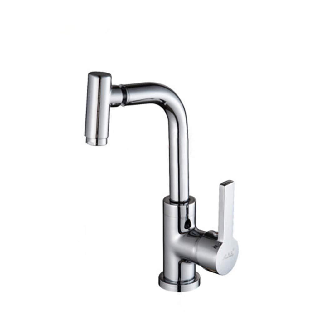 Edelstahl Einhand Wasserhähne Küche Wasserhahn Badezimmer Kupfer Wasserhahn Waschbecken Becken Wasserhahn Küchenhahn
