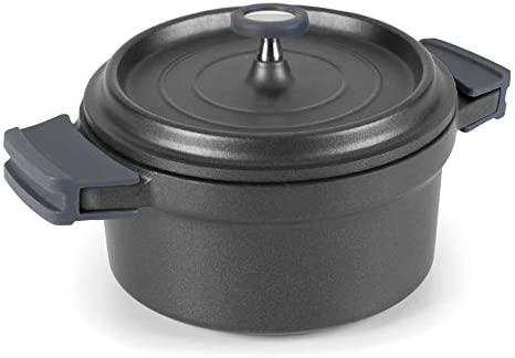 Lacor - 25921 - Cacerola Con Tapa Aluminio Fundido 20cm - Negro
