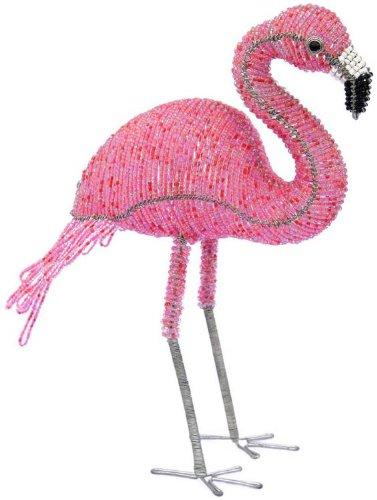 Root Sculpture (Grass Roots Creations Flamingo Beadworx Sculpture, Small, Pink)