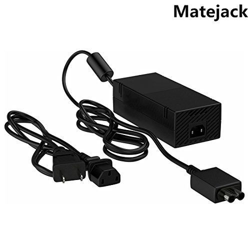 Xbox One Power Supply,Matejack NEW Xbox One Power AC Adapter,Xbox One AC Adapter Charger Cord(100V-127V,16.5A,Quietest Version)-Xbox One AC Power Adapter-US Plug (Console Orange)