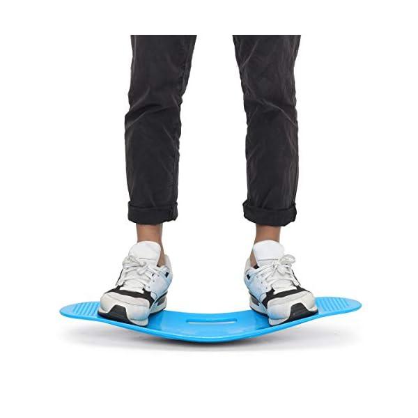 Cavis Torsion Fitness Balance Board Entra?Nement Simple de Base pour Les Muscles Abdominaux et Les Jambes Balance Fitness Fitness Yoga Board-Pourpre accessoires de fitness [tag]