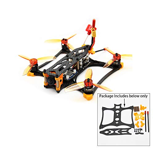 Usmile KBAT136 136mm Micro 3 inch FPV Racing Drone Frame Support Twin Flight Controller Stack/Tower for Rumcam Split Mini 2 Caddx Turtle V2 1080P HD FPV Camera (KBAT136)