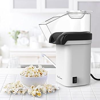 Classic Cuisine 82-KIT1033 Hot Air Popcorn Machine, White