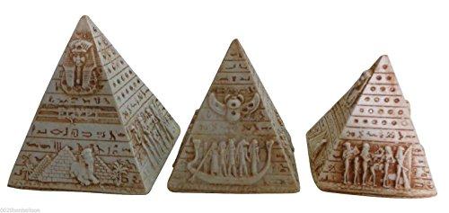 [Set Pyramids Sphinx Tut Nefertiti Isis Wings Scarab Hieroglyphics Pharaoh Figurine Statue Ancient Handmade 3D Sculpture Collectible Mythology Miniature Decor] (Beetle Wings Costume)