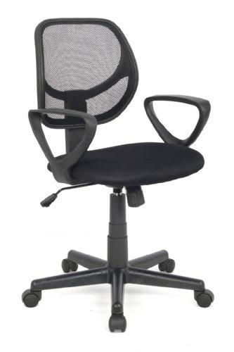 SixBros. Bürostuhl Drehstuhl Schreibtischstuhl Schwarz - H-2415/1325
