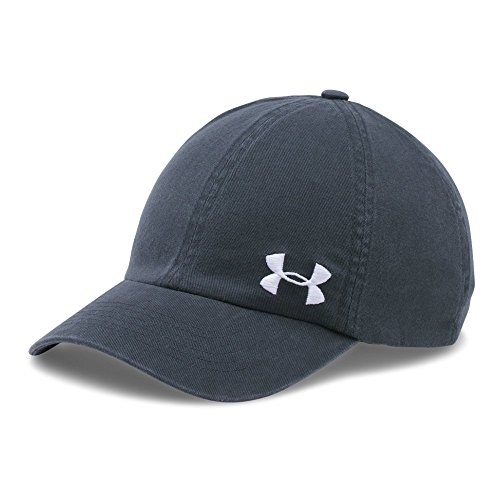 Under Armour Women's Armour Washed Cap, Stealth Gray/White, One Size