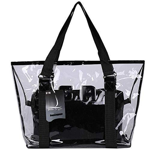 - Top Handle Tote Bags,Vinyl Handbag and Purses - 2pcsHobo Satchels for Women,Girl (Large, Black)