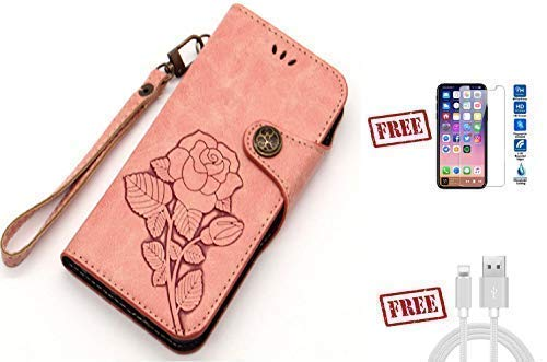 5707f3557887 Amazon.com: Buy One Rose Leather Wallet Vintage Retro Case for ...