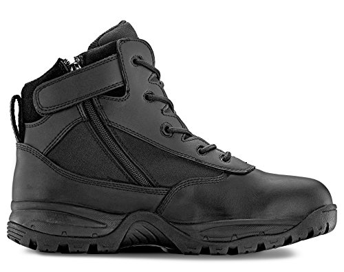 Maelstrom(R) PATROL 6'' Black Tactical Duty Work Boots with Zipper - P1360Z Size 10 Wide
