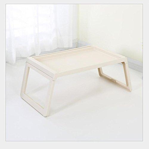GFL Laptop Desk Dorm Artifact Folding Table Lazy Office Bed Desk Computer Tables (Color : Beige) by GFL