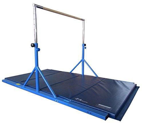 Ext Extension Kit - Z-Athletic ZATH-JTB-Ext-4x8x2-B Expandable Junior Training bar, Extension Kit & 4' x 8' x 2in Mat Package (Blue)