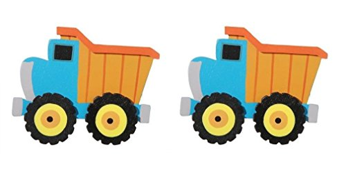 Darice Layered Natural Painted Wood Cutout - Dump Truck - Set of 2