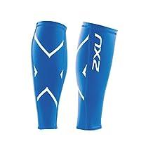 2XU Men's Non-Stirrup Compression Calf Guard, Royal Blue/Royal Blue, Large